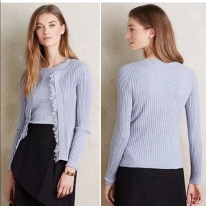 Anthropologie Knitted & Knotted Ribbed Cardigan M